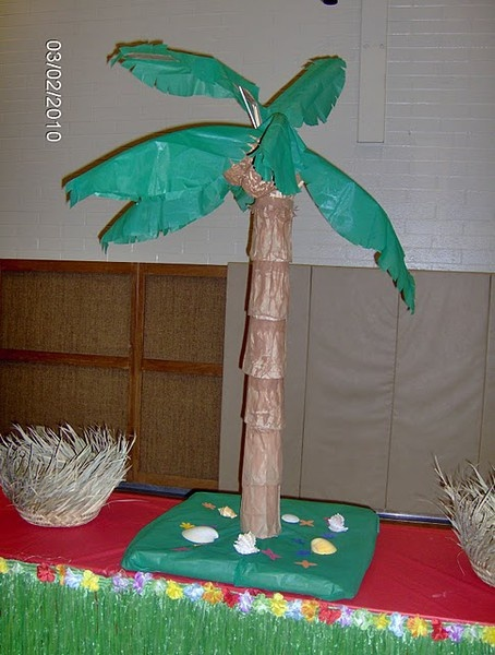 homemade palm trees