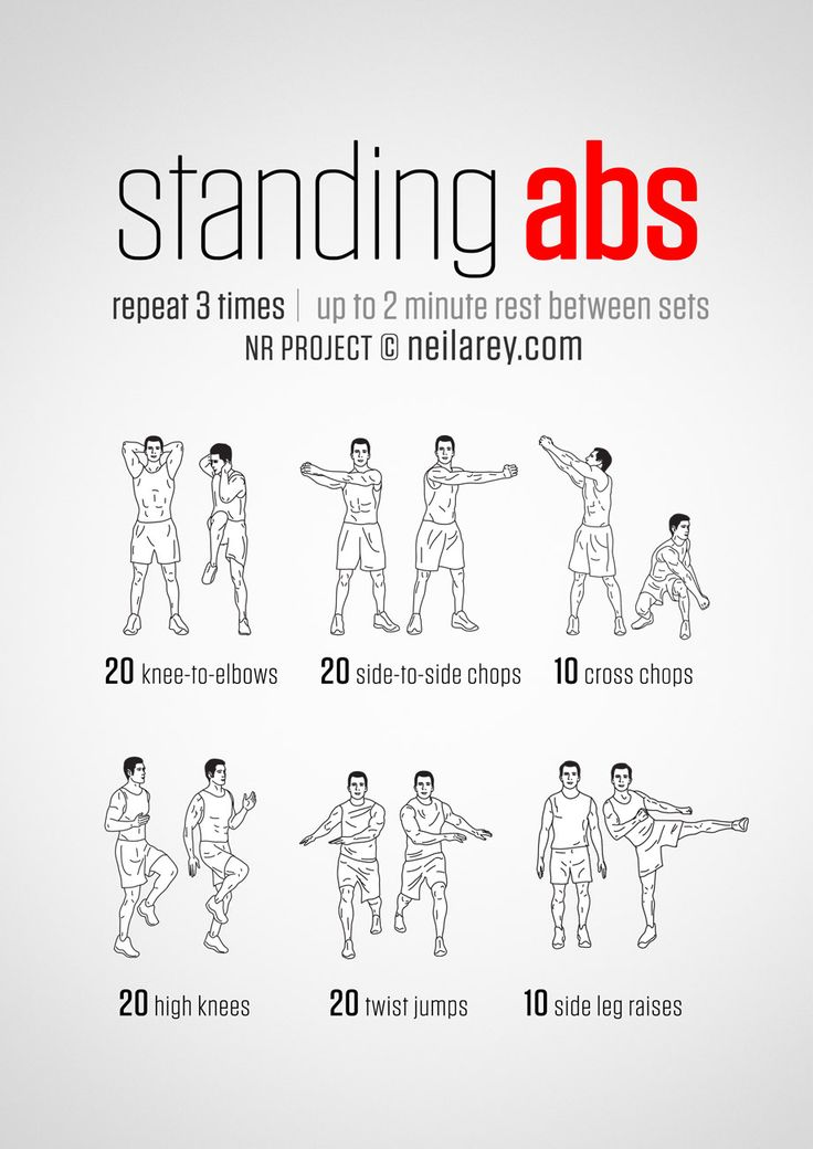 Did you know that vertical ab exercises are very efficient to burn belly fat? Discover the best standing core workouts. #abs #workout