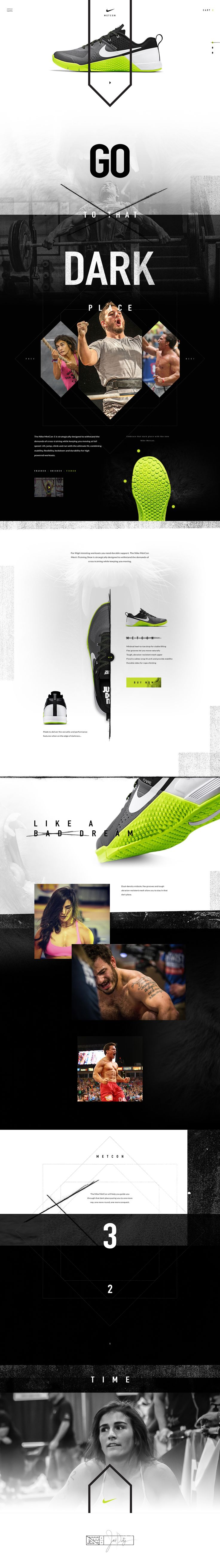 Nike Metcon: clean Ui design concept by Ben Johnson for Elegant Seagulls, on dribbble.