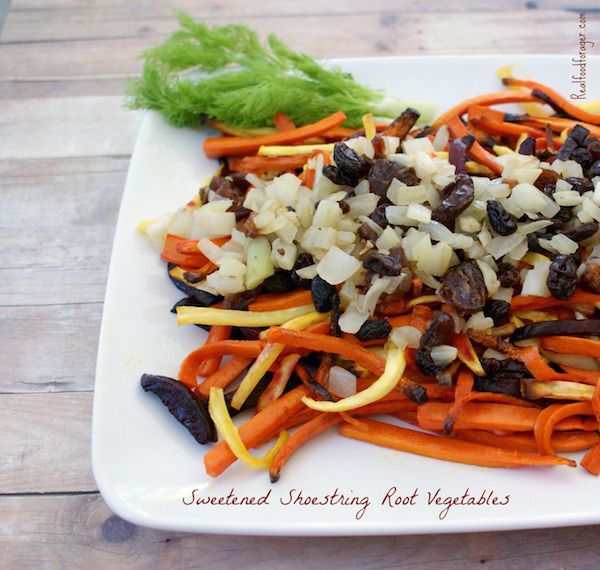 Sweetened Shoestring Root Vegetables (Paleo, GAPS,…Edit description
