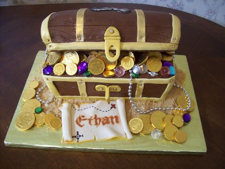 how to make treasure chest cake step by step