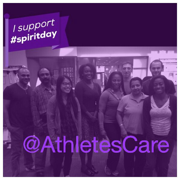 What is Spirit Day?  An annual day held on the third thursday of October when millions of Americans wear purple to speak out against bullying and to show their support for lesbian, gay, bisexual and transgender (LGBT) youth.