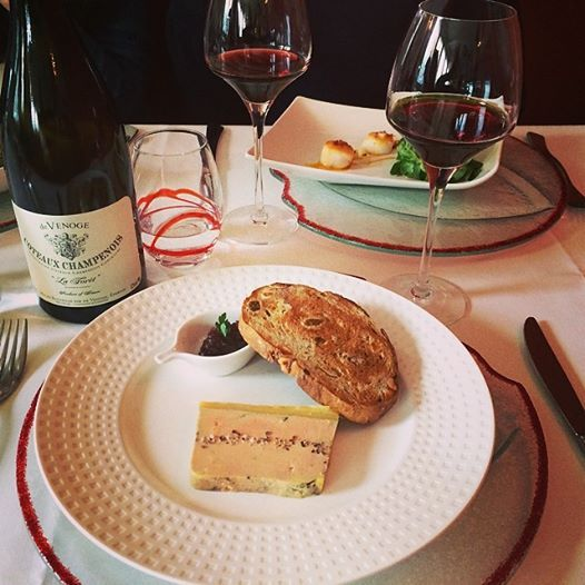 Duck Foie Gras + Pinot Noir Produced in Champagne = Heaven!
