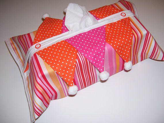 TISSUE BOX COVERS  pompom kleenex box  pompom tissue box