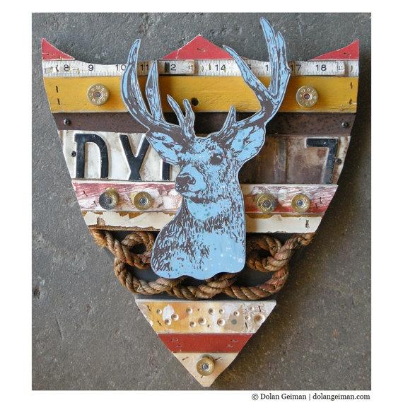 Trophy Deer Collection, rescued wood construction by Dolan GeimanTrophy Deer, Geiler Snag Financing, Deer Collection, Rescue Wood, Wood Construction, Home Decor, Rethink Woodsy
