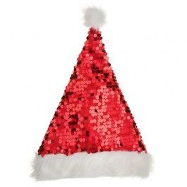 Make sure you sparkle this Christmas with our sequin Santa hat with white fur cuff and pom pom! Great for christmas parties or if you just fancy getting in the swing of Christmas.