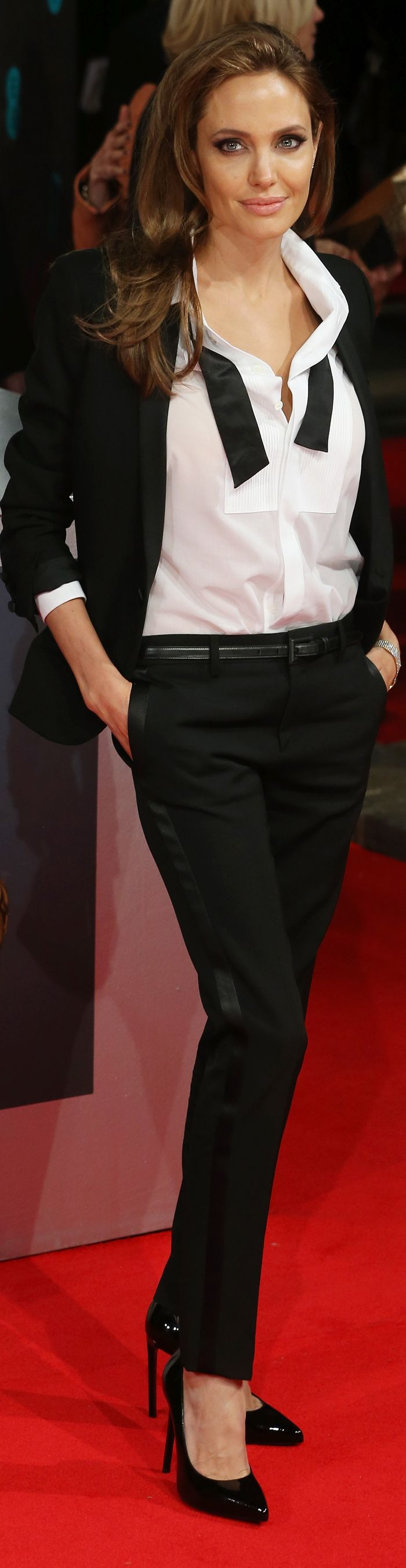 Angelina Jolie's Saint Laurent suit was one of the week's top ten looks. See the rest here: popsu.gr/34124274