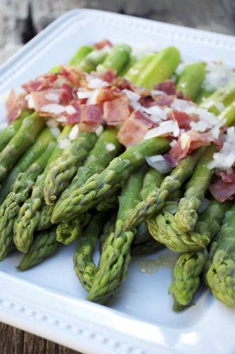 Asparagus & Bits of Bacon - French Fridays with DorieAsparagus Bacon, Recipe, Side, Dishes, Maine Courses, French Friday, Food Veggies, Eating Vegetables, Delicious Food