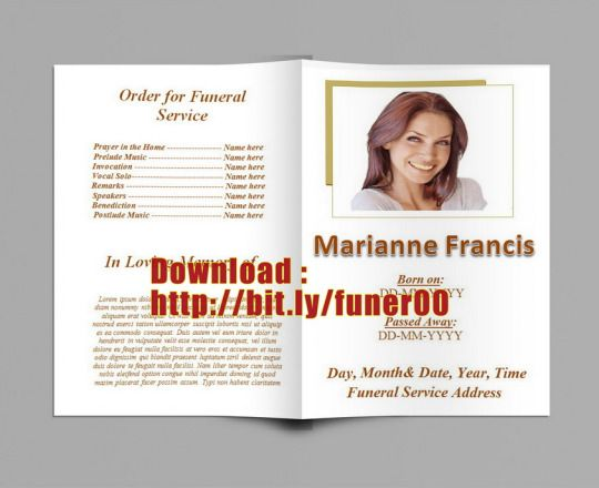79 best Funeral Program Templates for MS Word to Download images - funeral template download