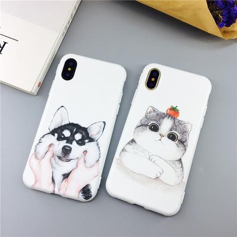 853b74abc23 For iphone 6s Case For iphone 7 Case For iphone X Xs funda Cute cartoon  animal soft silicone Case For iphone 6 7 8 plus Case From Touchy Style  Outfit ...