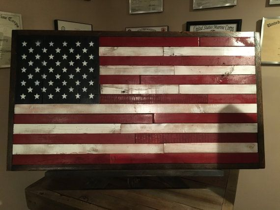 Large American Flag American Flag Rustic Decor by DandLwoodworking