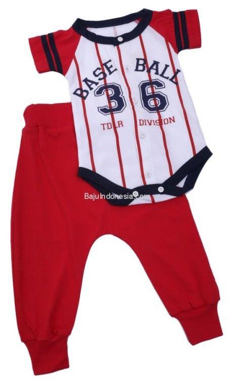 Baju anak TDL 18-115 combed cotton putih kombinasi All...