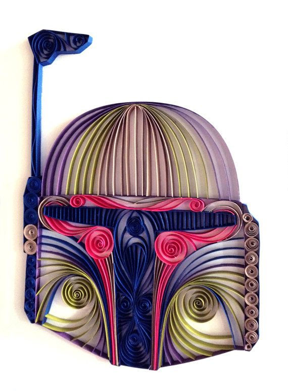 Quilled Paper Star Wars Sculptures - Boba Fett