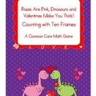 $2.00 This is a common core math game for pre-kindergarten and kindergarten students. It consists of valentine dinosaurs with numbers 0-20 and the corres...