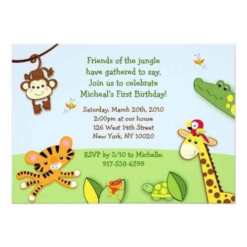 120 best zoo birthday party invitations images on pinterest rainforest jungle animal zoo birthday invitations stopboris Gallery