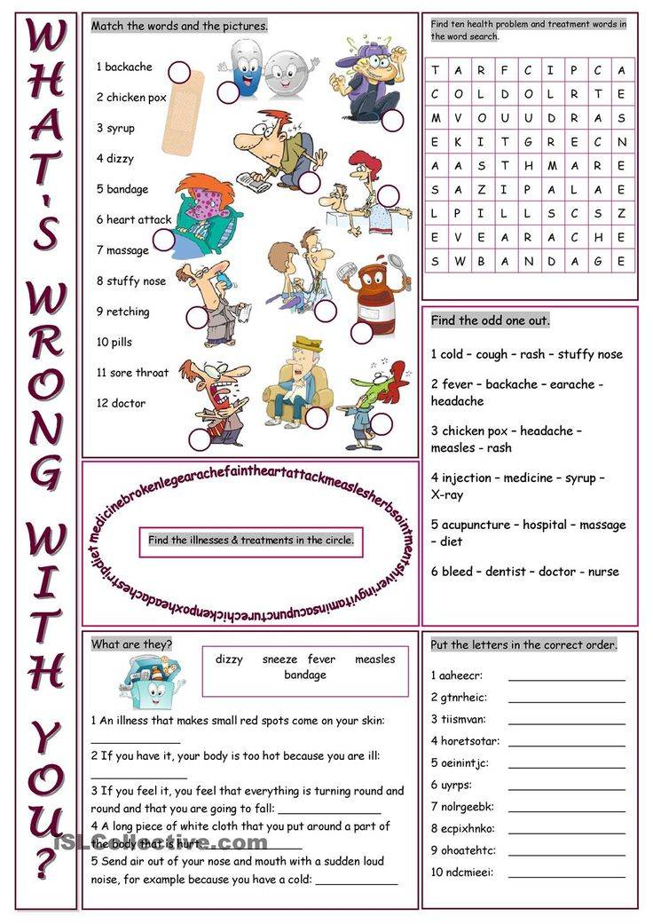 Whats Wrong With You Vocabulary Exercises