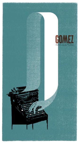 Gomez. Gig poster.