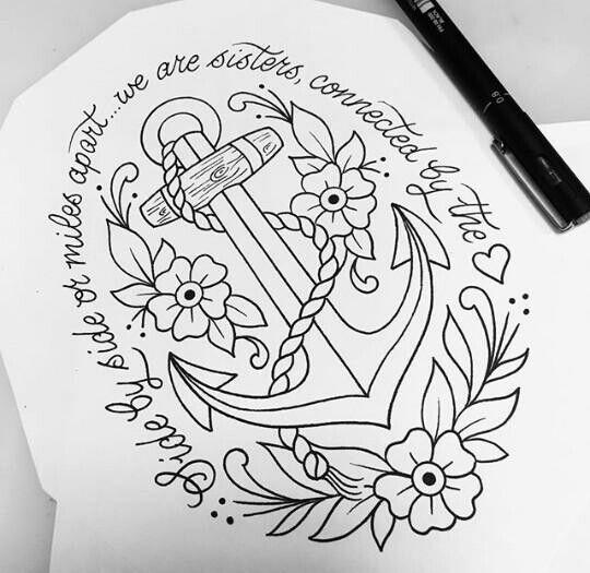 Old school tattoo anchor
