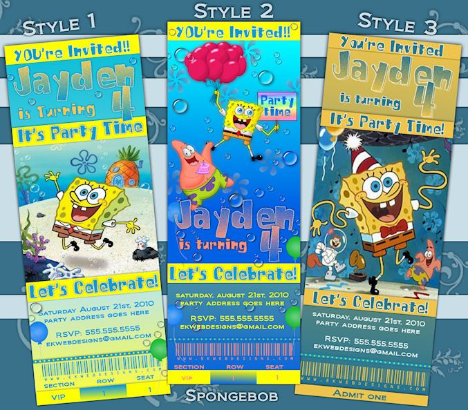 The 25 best Sponge bob birthday ideas – Spongebob Party Invitations