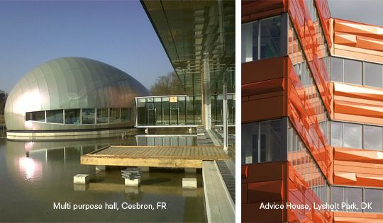Due to its composite structure, ALUCOBOND® can take on many different shapes. Though both stable and flat ALUCOBOND® can be perfectly formed without any ...