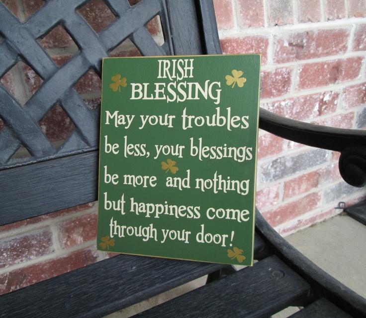 St patrick's Day sign--Irish Blessing. $14.00, via Etsy.