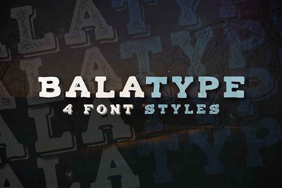 Balatype - 4 Hand Drawn Serif Fonts by Roman Paslavskiy on @creativemarket