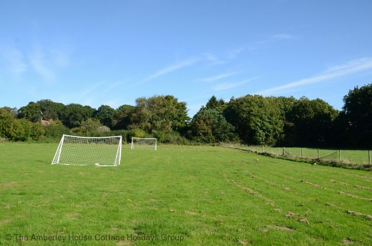 Freelands Farmhouse Stables   Sleeps 4   Storrington. Fancy a kickabout?  This fun football area is available behind the cottage to expend some energy or watch the youngsters run about. Gooooooooooal!