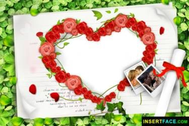 Insert Your photos into Excellent Love Photo Frame and Download Free