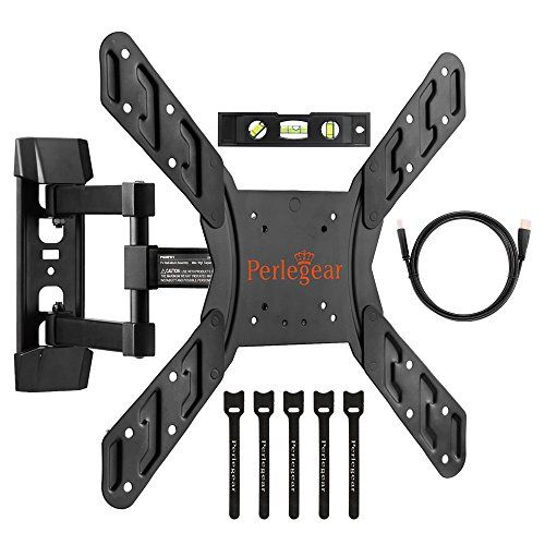 "awesome Perlegear Full Motion Articulating TV Wall Mount Bracket for many 23-fifty five Inch LED, LCD, OLED and Plasma Flat Screen TVs VESA patterns as much as four hundred x 400mm - sixteen"" Extension - Bonus HDMI Cable & Bubble Level"