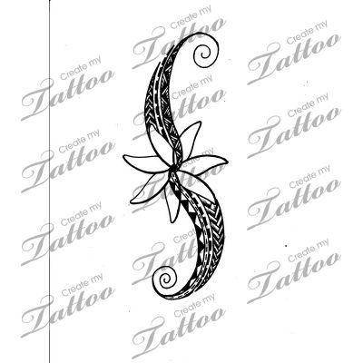 marketplace tattoo hawaiian tribal with tiare 11171 abstract tattoo. Black Bedroom Furniture Sets. Home Design Ideas