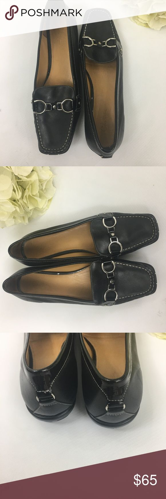 EUC Cole Haan black loafers size 10 B These beautiful Cole Haan loafers are in excellent condition with minor wear Cole Haan Shoes Flats & Loafers