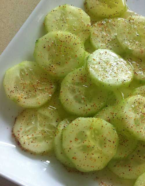 Recipe for Cucumber Delite - This healthy cucumber snack is my new favorite afternoon snack. It is so easy to make and tastes delicious.[amd-zlrecipe-recipe:567]
