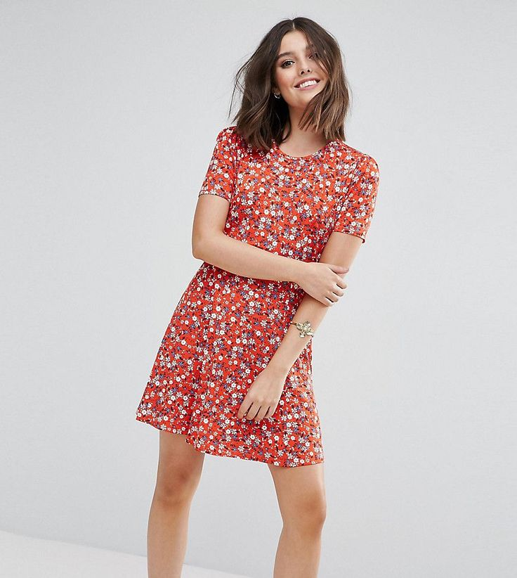 Get this Asos Petite's casual dress now! Click for more details. Worldwide shipping. ASOS PETITE Mini Tea Dress In Floral Print - Red: Petite dress by ASOS PETITE, Soft-touch jersey, All-over floral print, Round neck, Short sleeves, Button-keyhole back, Regular fit - true to size, Machine wash, 93% Viscose, 7% Elastane, Our model wears a UK 8/EU 36/US 4 and is 160cm/5'3 tall, Mini dress length between: 85-87cm. 5�3�/1.60m and under? The London-based design team behind ASOS PETITE take all...
