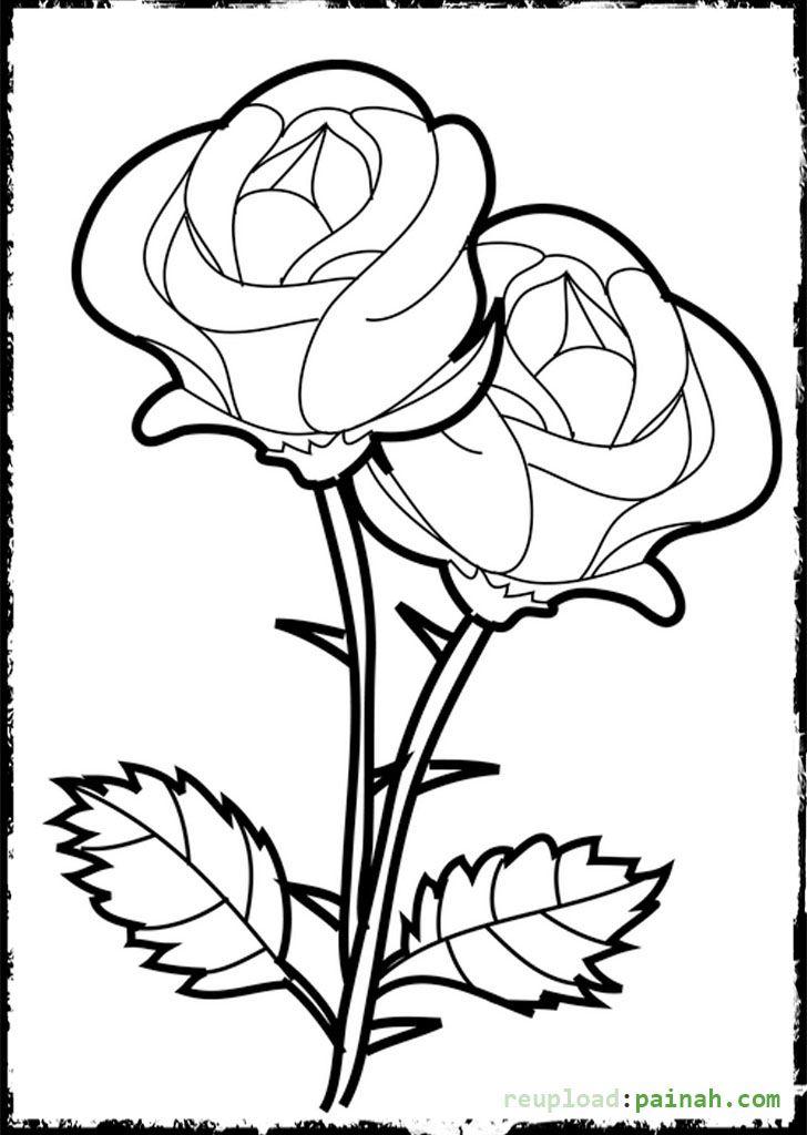 Beautiful Rose Coloring Pages Printable | Çizim teknikleri ...