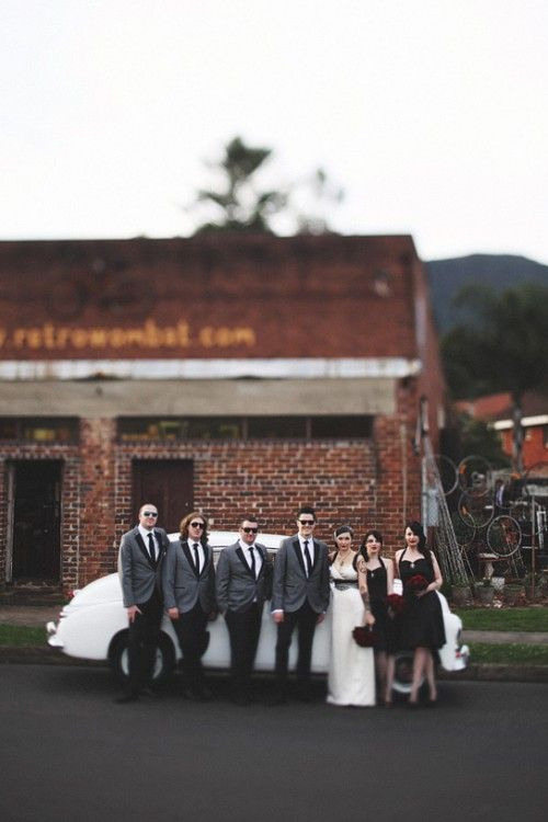 Offbeat Bride » rockabilly wedding in Wollongong.. Definitely a style I would choose for my wedding!