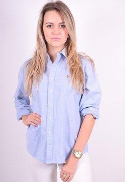 Ralph Lauren Womens Vintage Shirt Size 12 Blue 90's