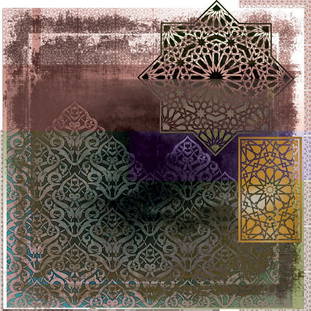 Arabic Geometry 14 by Gregg Sedgwick. Buy now from $75 at g-1.com. Available in both 35X35cm and 50X50cm.