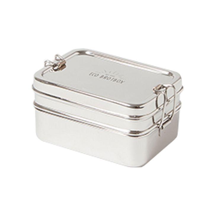 Eco Brotbox - Lunchbox Dabba Magic aus Edelstahl mit Snackbox