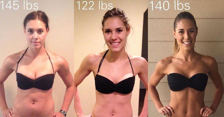 """""""My Sweat Life""""-Bloggerin Kelsey Wells beweist mit ihren neusten Vorher-Nachher-Aufnahmen, dass Gewicht nur eine Zahl ist."""