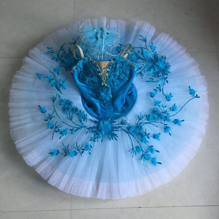 Spring Blue Flowers | Dancewear by Patricia