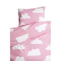 Bedding Set . Toddler - Clouds Pink