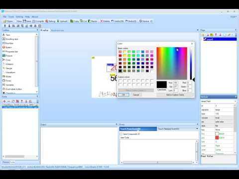 Build an User Interface using Nextion Editor - YouTube