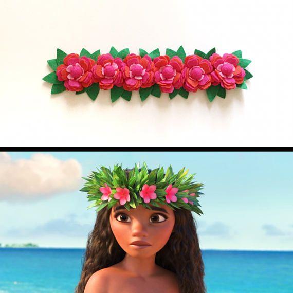 8383434835 Moana inspired flower crown