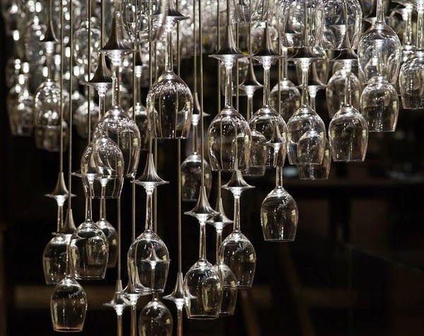 Best 25 wine glass chandelier ideas on pinterest wine glass shelf glass chandelier and - Glass bottle chandelier ...