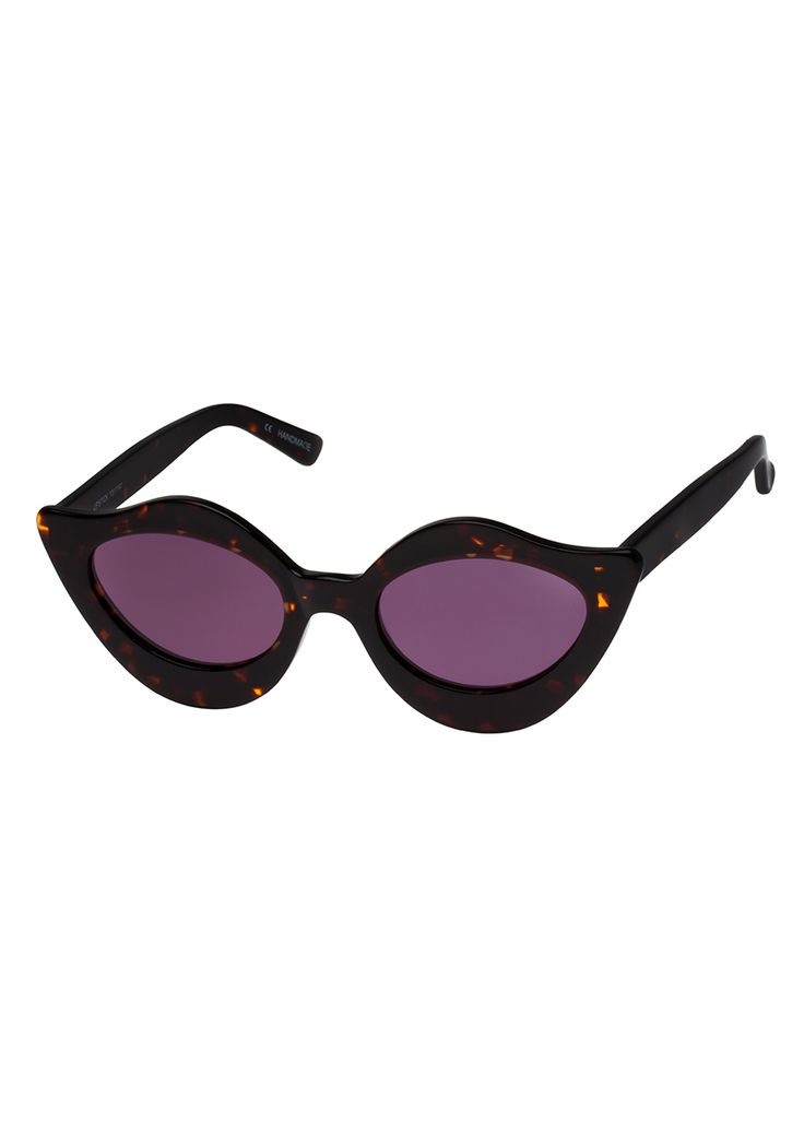 lilac extreme cat eye sunglasses - Lilac House Of Holland mcV74OS