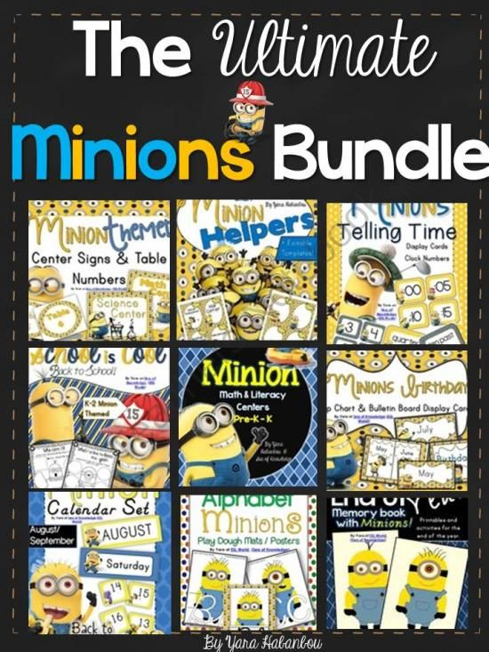 The Ultimate Minions Bundle Math & Literacy Activities + Classroom Decor from SeaofKnowledge on TeachersNotebook.com -  (400 pages)  - I've finally combined ALL Minion themed resources in my store into one large bundle due to numerous requests Apologies for the delay in posting this - I just needed to complete the last pack with act