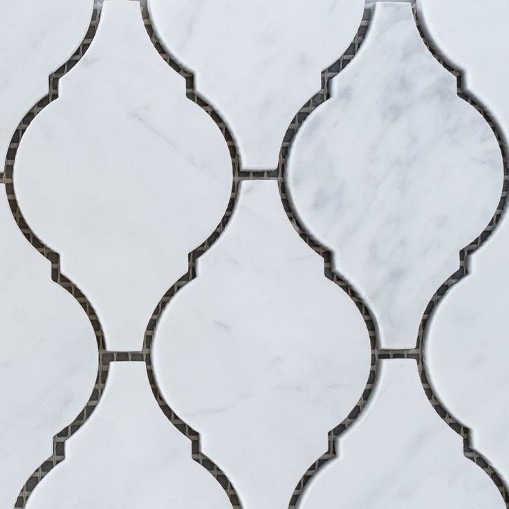 Designer Marble   Carrara Lantern Mosaic