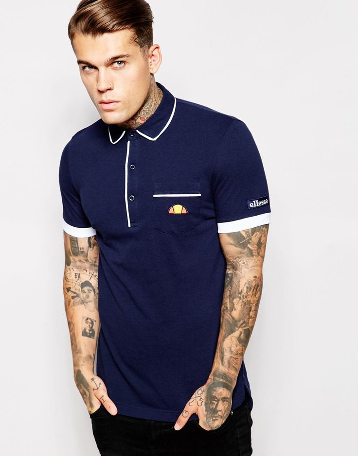 Image 1 of Ellesse Re-Issue Polo Shirt