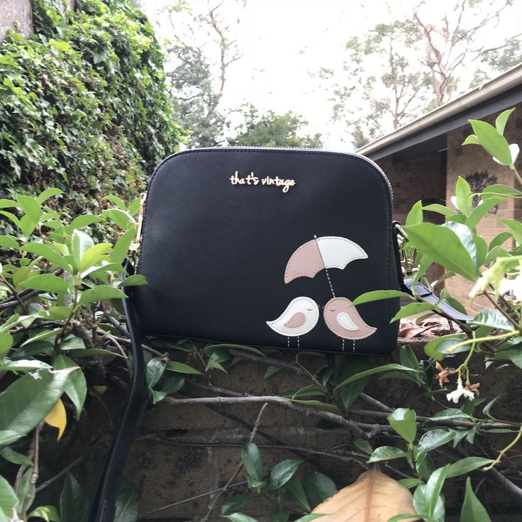 Black saffiano leather handbag