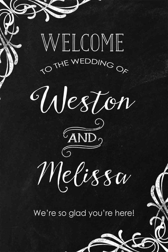 Wedding Welcome Sign Welcome to our wedding by periwinkleinc